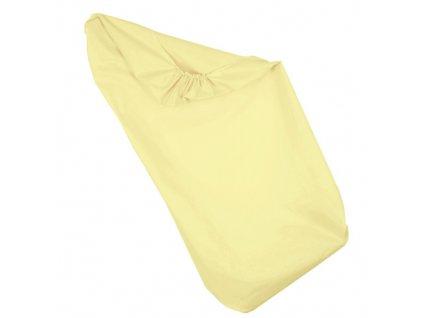 Babyrenka Prostěradlo na gumu 70x140 Lisa yellow