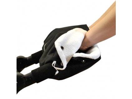 Babyrenka rukávník zateplení rukojeti kočárku černá bílá