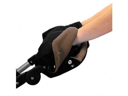 Babyrenka rukávník zateplení rukojeti kočárku černá hnědá
