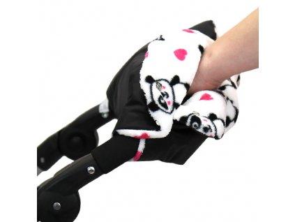 Babyrenka zateplení rukojeti Simple černá Panda