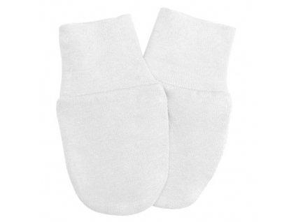 Babyrenka kojenecké rukavičky Úplet White