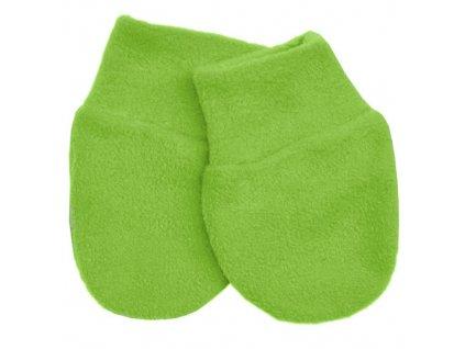 Babyrenka kojenecké rukavičky Fleece Lawn Green