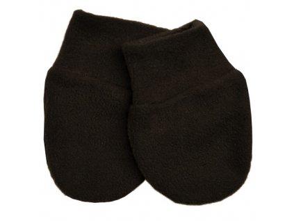Babyrenka kojenecké rukavičky Fleece Dark Brown RFDBR29