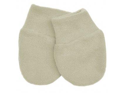 Babyrenka kojenecké rukavičky Fleece Natur