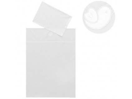 Babyrenka povlečení do postýlky Bird bílá dvoudílný set Euro 40x60, 100x135 cm