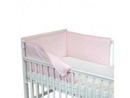 Babyrenka ochranný límec do postýlky 210 cm Uni pink