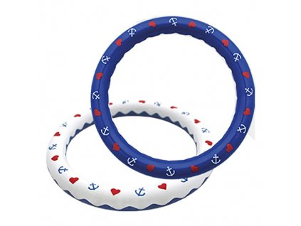 Baby Nova chrastítko Kruh s kuličkami modré 31109B