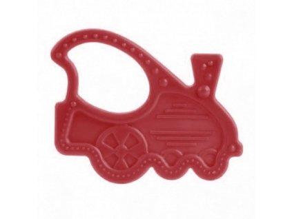 Canpol elastické silikonové kousátko červené