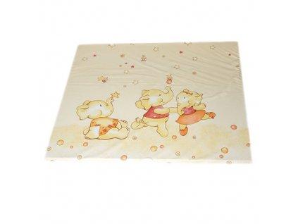 Philippo plochá přebalovací podložka 75x85 col.01 tančící slon