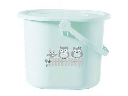 Bébé Jou kyblík na pleny s víkem Owl family