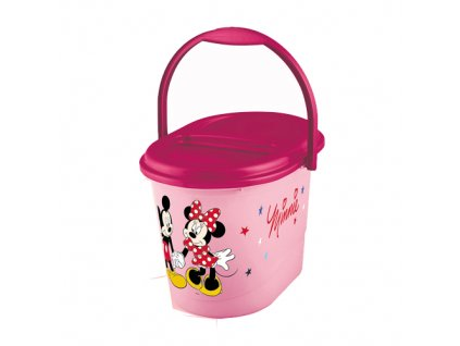 Keeeper kyblík na pleny s víkem Mickey and Minnie růžový