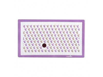 Babymoov protiskluzová podložka 40 x 70 cm se senzorem Lachtan bílo fialová
