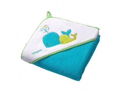 Baby Ono osuška s kapucí velryby 76x76 cm 137/02
