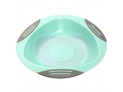 Baby Ono dětský plastový talíř 16 cm s přísavkou mint