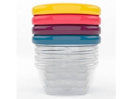 Babymoov barevné misky s víčky 120ml sada 4ks A004307