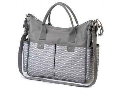 Baby Ono taška na kočárek So City šedá vzor 1423/02