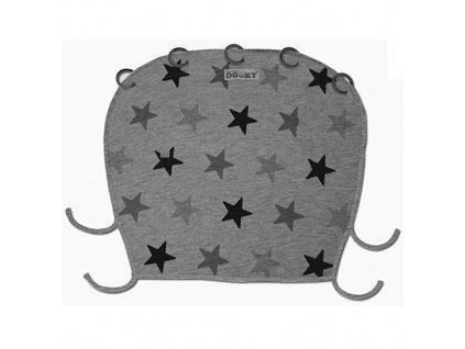 Dooky Design sluneční clona Grey Stars 126616