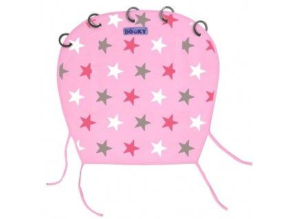 Dooky Design sluneční clona Pink/Pink Stars