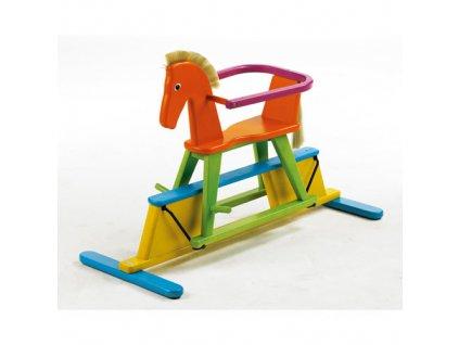 Geuther dřevěný houpací kůň Swingly Stern funny barevný
