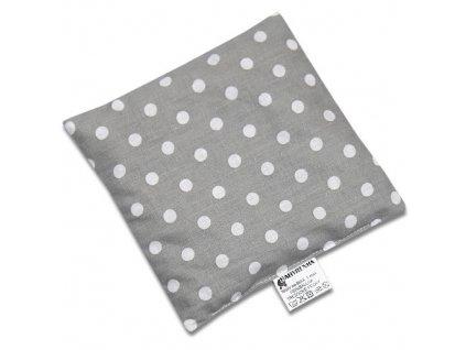 nahrivaci polstarek ctverec dots big grey