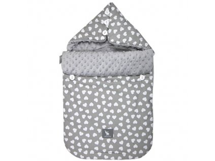 cottonmoose fusak 330 heart grey minky