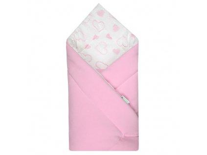 90x90 fleece srdicka pink