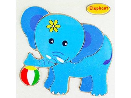rappa drev puzzle slon