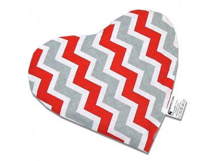 nahrivaci polstarek srdce zigzag red