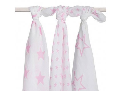 jollein hydrofilni little star pink 3ks
