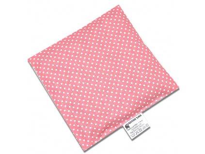 nahrivaci polstarek ctverec dots old pink