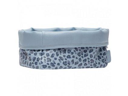 bebejou textilni kosik leopard blue
