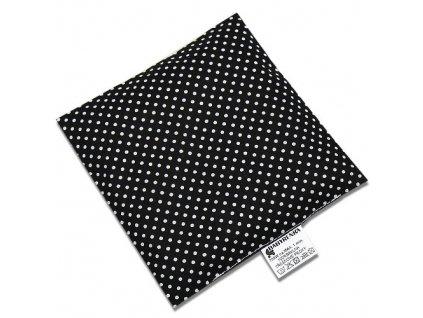 nahrivaci polstarek ctverec dots black