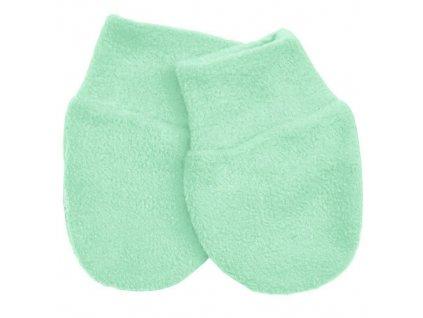 rukavicky fleece mint