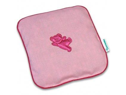 nahrivaci ribbon bear pink