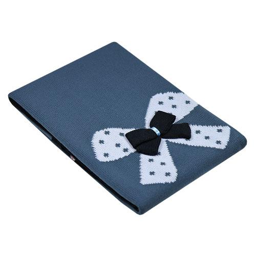 EKO pletená akrylová deka do kočárku mašle grafit Ple-12