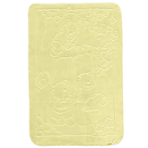 Baby Perla dětská deka 517 plastický vzor žlutá dek517/yell dek517/yell
