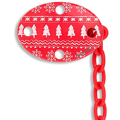 Suavinex vánoční řetízek na dudlík 0+ červený 3303416C 3303416C