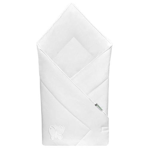 Babyrenka zavinovačka 80x80 Uni bílá výšivka bílá R8UV010249