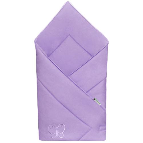 Babyrenka zavinovačka 80x80 Uni violet s výšivkou R8UV710249