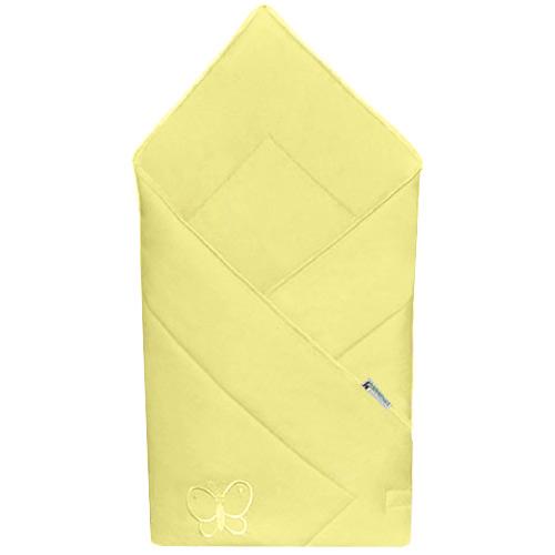Babyrenka zavinovačka 80x80 Uni yellow s výšivkou R8UV450249