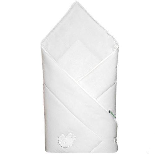 Babyrenka zavinovačka 80x80 Bird bílá bílý lem R8PB010249