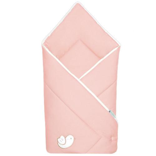 Babyrenka zavinovačka 80x80 Bird pink bílý lem R8PB100249