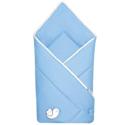 Babyrenka zavinovačka 80x80 Bird sky blue bílý lem R8PB220249