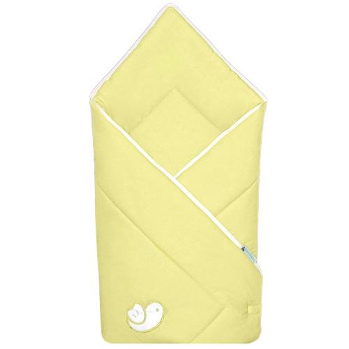 Babyrenka zavinovačka 80x80 Bird yellow bílý lem R8PB450249