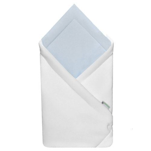 Babyrenka zavinovačka 75x75 Fleece úplet bílá modrá R75FUBM0148