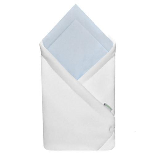 Babyrenka zavinovačka 75x75 Fleece úplet bílá šedomodrá R75FUBM0148