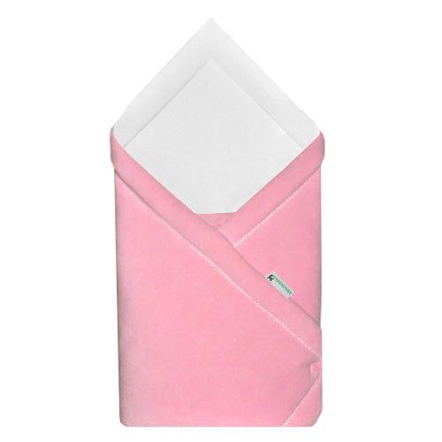 Babyrenka zavinovačka 75x75 Fleece úplet růžová bílá R75FURB0148