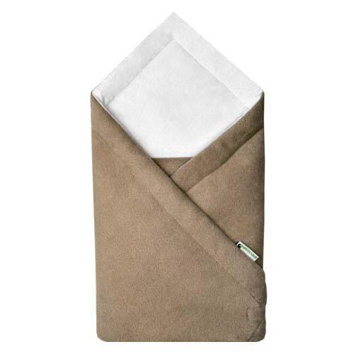 Babyrenka zavinovačka 75x75 Fleece úplet béžovo bílá R75FUBB0148