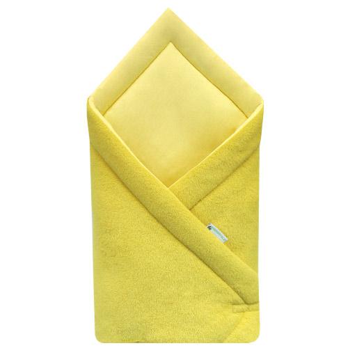 Babyrenka zavinovačka 75x75 Fleece úplet Mustard R75FUM148