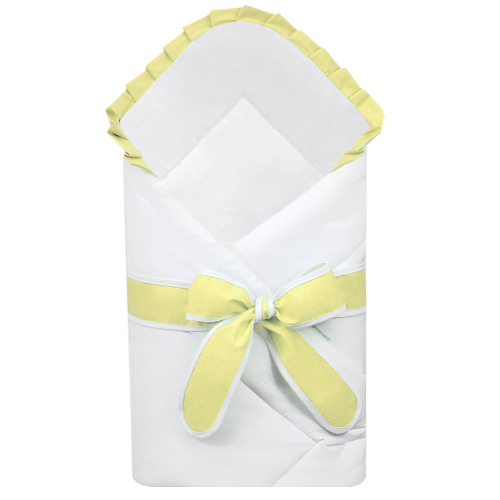 Babyrenka zavinovačka 80x80 cm Basic bílá s mašlí Uni yellow R8MBBUYE222